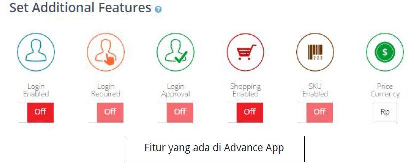fitur aplikasi mobile advanced