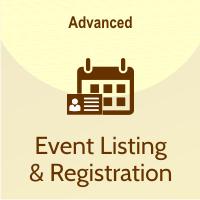 event listing & registration