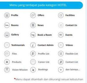 fitur pada aplikasi android & IOS Hotel